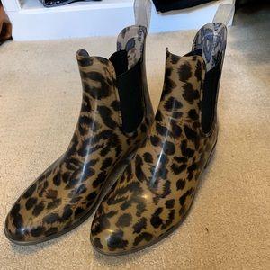 J. Crew Leopard Rain Boots